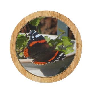 Butterfly Atalanta Round Cheese Board
