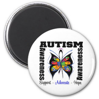 Butterfly Awareness - Autism 2 Inch Round Magnet