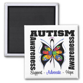 Butterfly Awareness - Autism 2 Inch Square Magnet