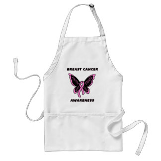 Butterfly/Awareness...Breast Cancer Adult Apron