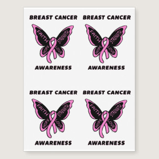 Butterfly/Awareness...Breast Cancer Temporary Tattoos