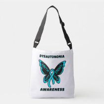 Butterfly/Awareness...Dysautonomia Crossbody Bag