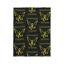 Butterfly/Awareness...Endometriosis Fleece Blanket