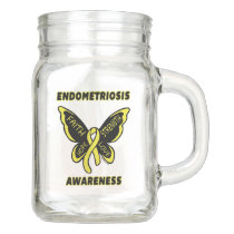 Butterfly/Awareness...Endometriosis Mason Jar