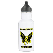 Butterfly/Awareness...Endometriosis Stainless Steel Water Bottle