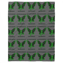 Butterfly/Awareness...Gastroparesis Fleece Blanket