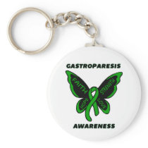 Butterfly/Awareness...Gastroparesis Keychain