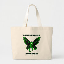 Butterfly/Awareness...Gastroparesis Large Tote Bag