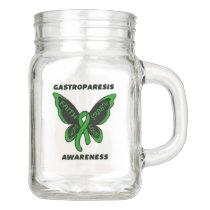 Butterfly/Awareness...Gastroparesis Mason Jar
