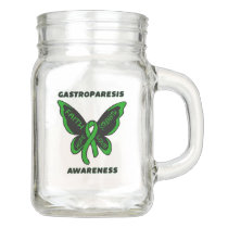 Butterfly/Awareness...Gastroparesis Mason Jar