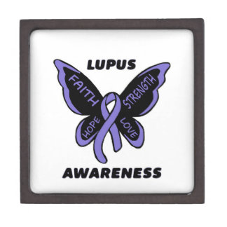 Butterfly/Awareness...Lupus Keepsake Box