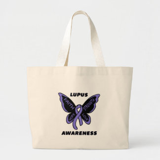Butterfly/Awareness...Lupus Large Tote Bag