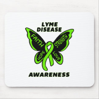 Butterfly/Awareness...Lyme Disease Mouse Pad