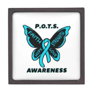 Butterfly/Awareness...P.O.T.S. Jewelry Box