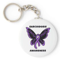 Butterfly/Awareness...Sarcoidosis Keychain