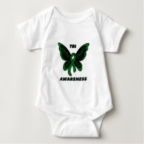 Butterfly/Awareness...TBI Baby Bodysuit