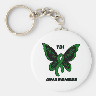 Butterfly/Awareness...TBI Keychain