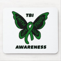 Butterfly/Awareness...TBI Mouse Pad