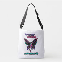 Butterfly/Awareness...Thyroid Disease Crossbody Bag