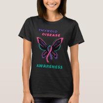 Butterfly/Awareness...Thyroid Disease T-Shirt