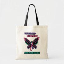 Butterfly/Awareness...Thyroid Disease Tote Bag