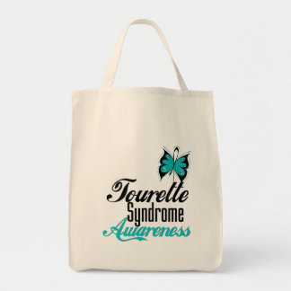 Butterfly Awareness Tourette Syndrome Canvas Bags