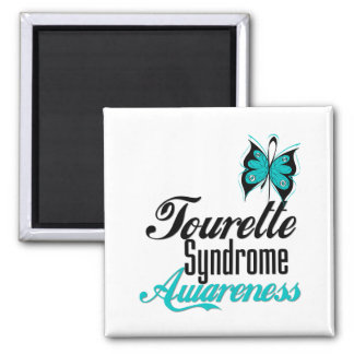 Butterfly Awareness Tourette Syndrome 2 Inch Square Magnet