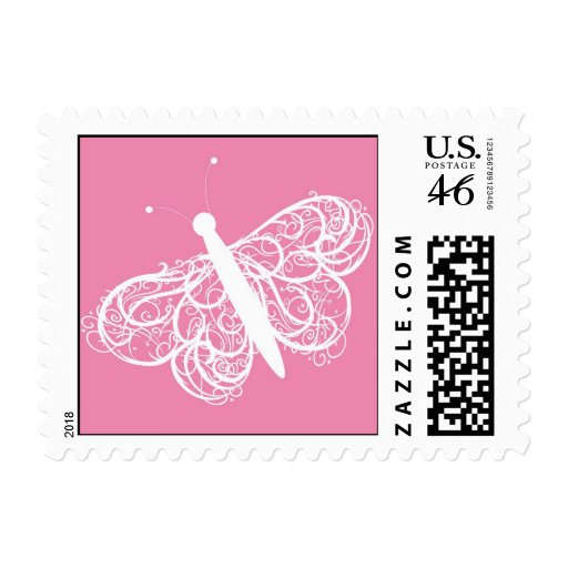 Butterfly Baby Announcement Stamp