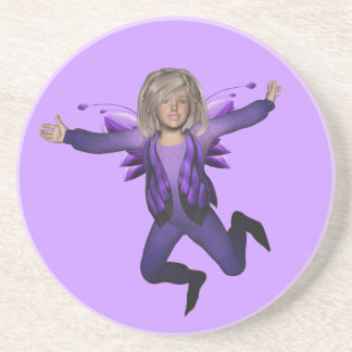 Butterfly Baby Elf Fairy Coaster