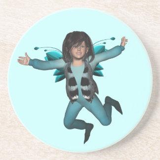 Butterfly Baby Elf Fairy Coaster