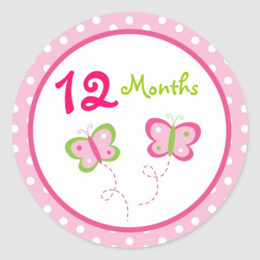 Butterfly Baby Girl Monthly Milestone Stickers