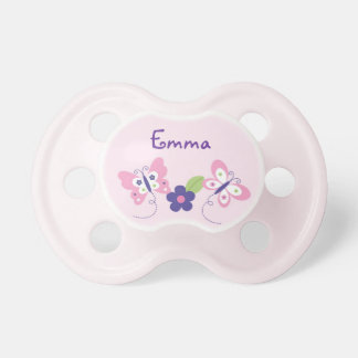 Butterfly Baby Girl Personalized Pacifier BooginHead Pacifier