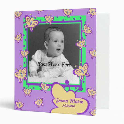 Butterfly Baby Photo Vinyl Binder