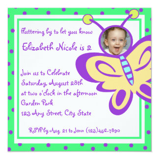 Butterfly Baby Photo Card
