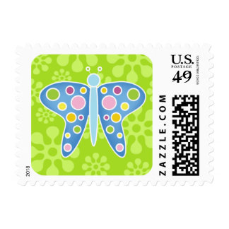 Butterfly Baby Shower Announcement Postage Stamps