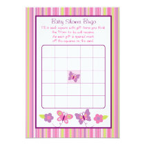 Butterfly Baby Shower Bingo Cards