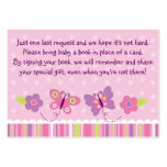 Butterfly Baby Shower Book Request Cards Business Cards