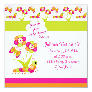Butterfly & Baby Shower Invitation