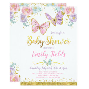 Erfly Baby Shower Invitation