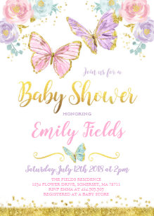Butterfly Baby Shower Invitations Zazzle
