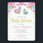 "Butterfly baby shower invitation, pink purple gold invitation<br><div class=""desc"">For more advanced customization of this design,  simply select the &quot;Customize It&quot; button above!</div>"
