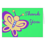 Butterfly Baby Thank You Card