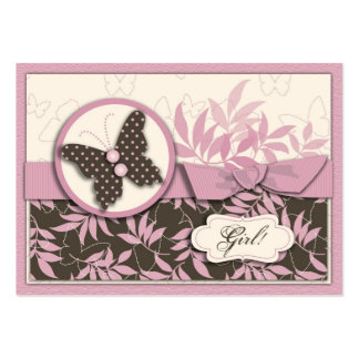 Butterfly Baby Thank You Notecard Large Business Cards (Pack Of 100)
