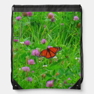 Butterfly Backpack-Monarch in Flight Drawstring Backpack