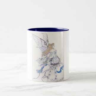 Butterfly Ballerina Two-Tone Coffee Mug