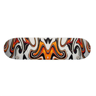 Butterfly Bat in Oranges and Black Skateboard