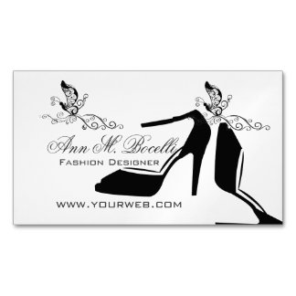 Butterfly Beauty Fashion Modern Shoe Couture Magnetic Business Card
