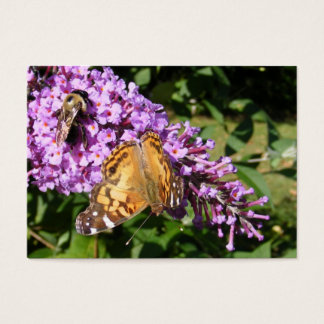 Butterfly & Bee ~ ATC Business Card