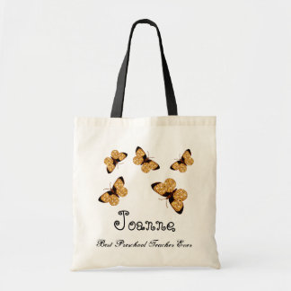 Butterfly Best Preschool Teacher Ever Gift Tote Bag