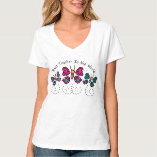Butterfly Best Teacher Tee Shirt